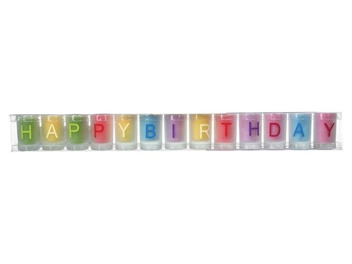 Świeczki urodzinowe HAPPY BIRTHDAY, komplet 13 sztuk