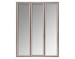 Lustra dekoracyjne w metalowej oprawie, 3 sztuki, 70x90x cm, kolor brązowy