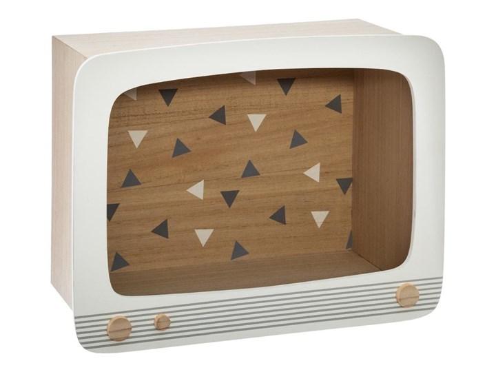 Półka dekoracyjna dla dzieci, motyw TV, 38x17x29 cm