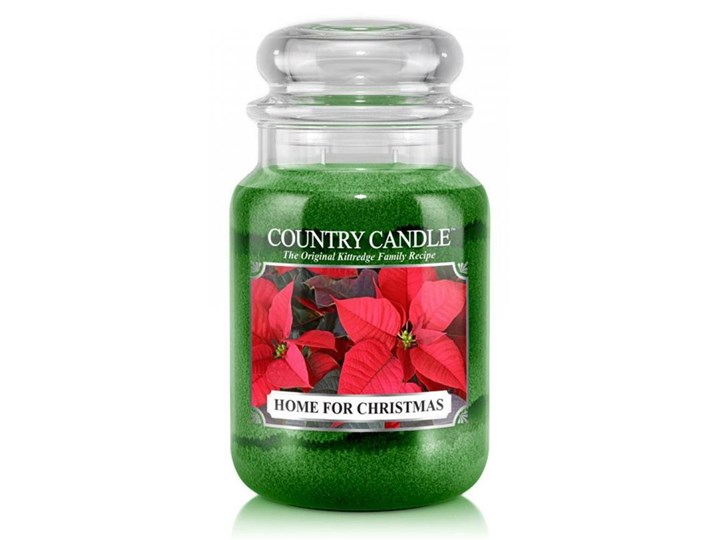 Country Candle - Home For Christmas - Duży słoik (652g) 2 knoty