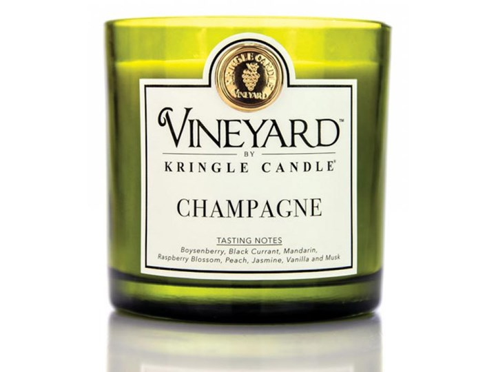 Kringle Candle - Champagne - Tumbler (1700g) z 4 knotami