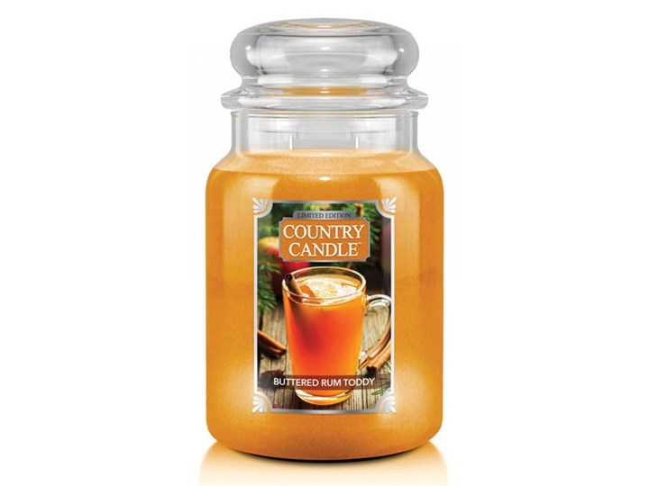 Country Candle - Buttered Rum Toddy - Duży słoik (680g) 2 knoty
