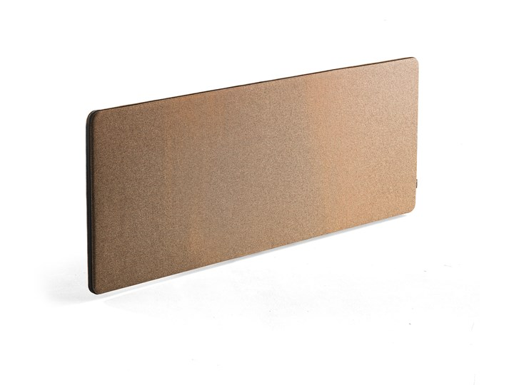 Wzmocniona ścianka biurkowa ZIP RIVET, 1800x650 mm, miedziany, czarny suwak