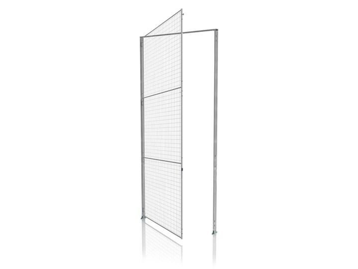 Pojedyncze drzwi z panelem i stężeniem, 3350x1000mm, zamek cylindryczny