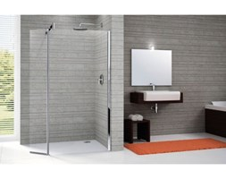 Novellini Go Ścianka prysznicowa Go9 stała z elementem wahadłowym - 98+37/195 cm Mocowanie prawe Szkło przezroczyste Chrom - GON998PD-1K.