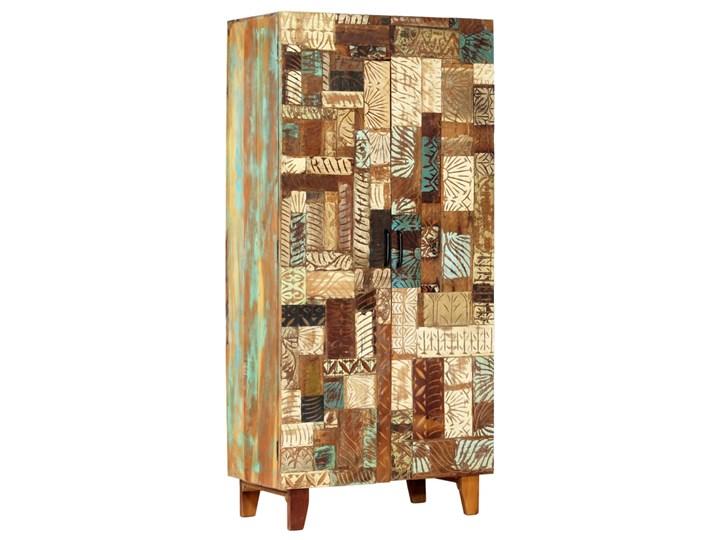 vidaXL Ręcznie rzeźbiona szafa, 85x45x180 cm, lite drewno odzyskane Sosna Sosna