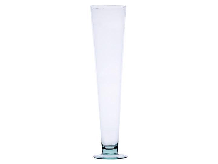 Szklany wazon na stopie W-181B H:50cm D:12,2cm