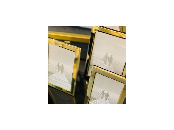 """RAMKA NA ZDJĘCIE METALOWA ZŁOTA WYBIERZ ROZMIAR """" LINE GOLD"""" 13x18cm Ramka na zdjęcia Rozmiar zdjęcia 13x18 cm"""