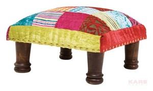 Kare design ibiza kolorowy aksamitny podn ek patchwork for Design patchwork stuhl ibiza