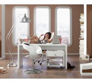 kare design retro design biurko bia e lakierowane na. Black Bedroom Furniture Sets. Home Design Ideas