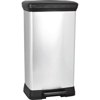 Kosz na śmieci metalizowany CURVER DECOBIN 50L
