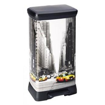 Kosz na śmieci CURVER New York 02162-N29-04 50l Czarny