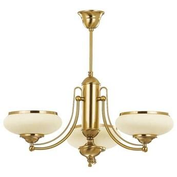 Lampa sufitowa żyrandol klasyczny PRESTIGE patyna/ecru śr. 64cm