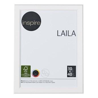 Ramka na zdjęcia Laila 30 x 40 cm biała MDF Inspire