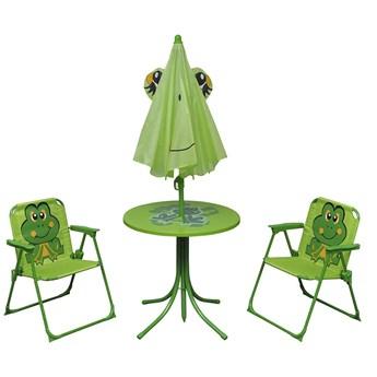 Zestaw mebli ogrodowych dla dzieci Lummo - zielony