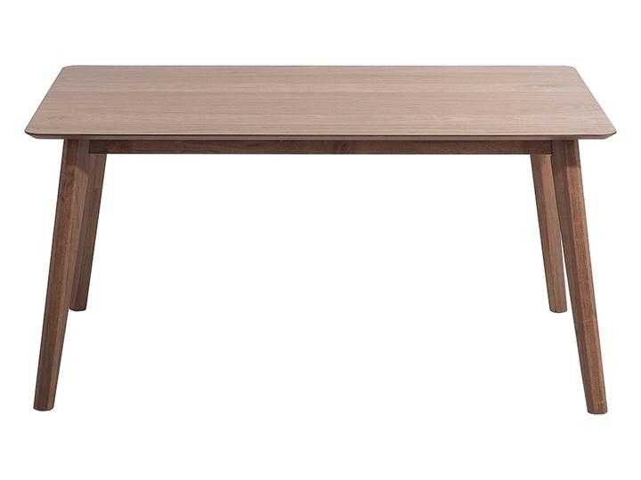 Stół do jadalni ciemne drewno 150 x 90 cm prostokątny styl retro Długość 150 cm  Płyta MDF Styl Nowoczesny