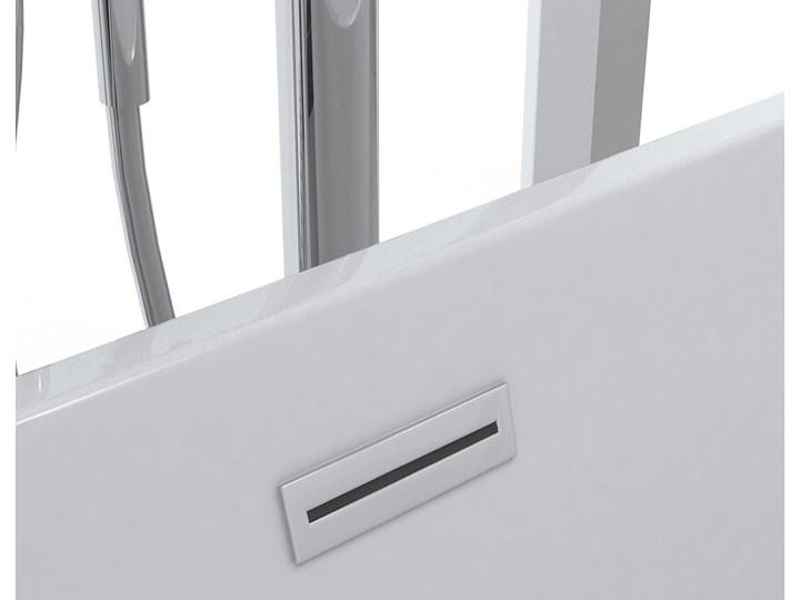 Wanna wolnostojąca biała akrylowa 170 x 80 cm system przelewowy owalna nowoczesna Wolnostojące Kolor Biały Długość 170 cm Kategoria Wanny