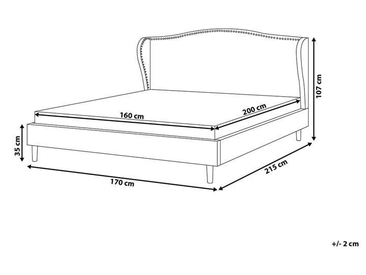 Łóżko ze stelażem tapicerowane szare 160 x 200 cm z zagłówkiem styl glamour Łóżko tapicerowane Kategoria Łóżka do sypialni