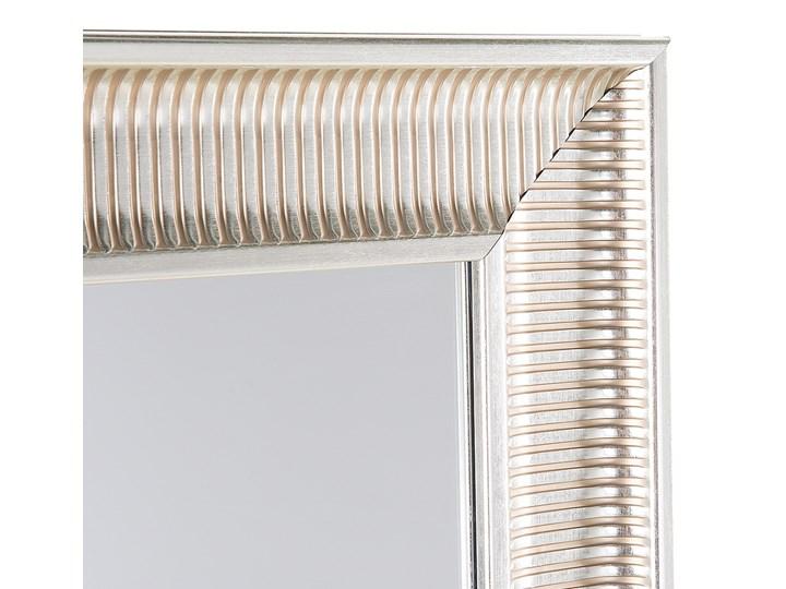 Lustro wiszące złote 60 x 90 cm syntetyczna rama styl nowoczesny glam Pomieszczenie Sypialnia Prostokątne Ścienne Lustro z ramą Kategoria Lustra