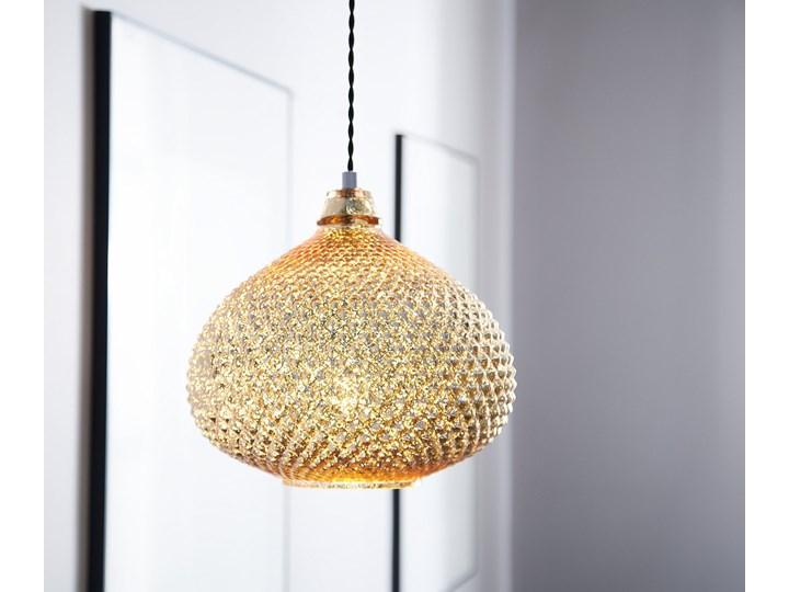 Lampa sufitowa złota 88 cm szklany klosz wysoki połysk glamour Szkło Lampa inspirowana Metal Stal Lampa z kloszem Kategoria Lampy wiszące
