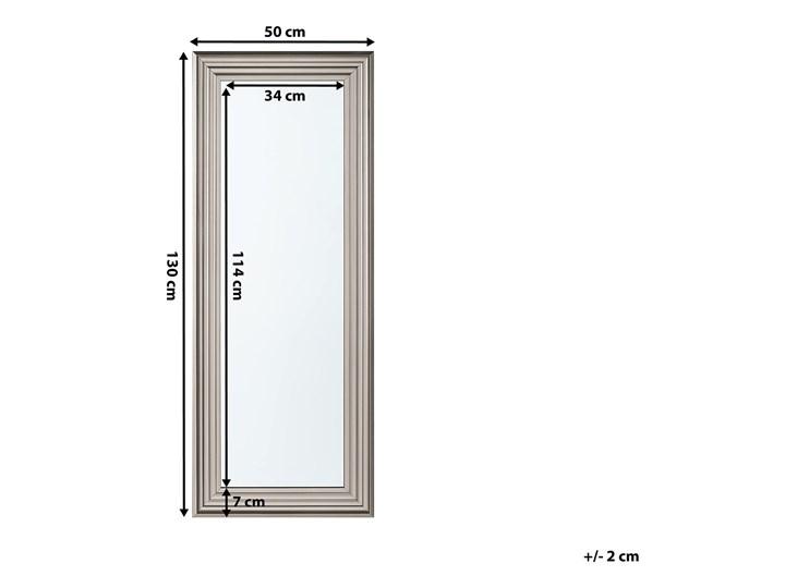 Lustro ścienne wiszące srebrne 50 x 130 cm łazienka sypialnia toaletka Lustro z ramą Prostokątne Kolor Srebrny Kategoria Lustra
