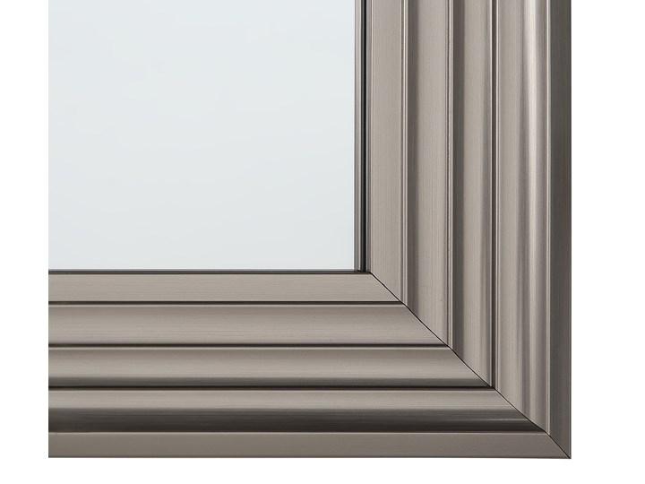 Lustro ścienne wiszące srebrne 61 x 91 cm łazienka sypialnia toaletka Prostokątne Lustro z ramą Kolor Srebrny