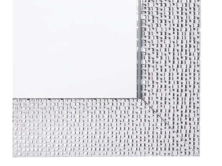 Lustro ścienne wiszące srebrne 61 x 91 cm łazienka sypialnia toaletka Prostokątne Kolor Srebrny