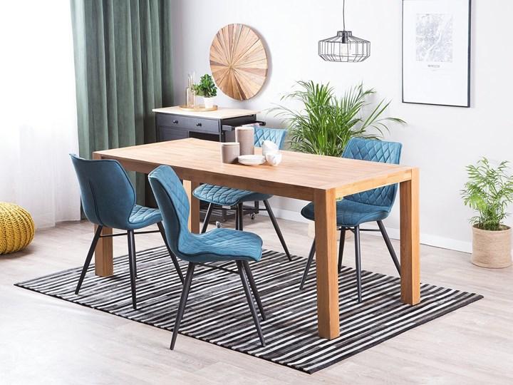 Stół do jadalni jasnobrązowy drewniany dębowy prostokątny 150 x 85 cm minimalistyczny Drewno Długość 150 cm  Rozkładanie