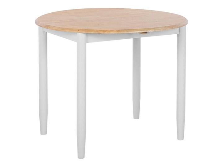 Stół do jadalni szary jasne drewno 60/92 x 92 cm rozkładany okrągły 4 miejsca skandynawski Szerokość 60 cm Rozkładanie Rozkładane