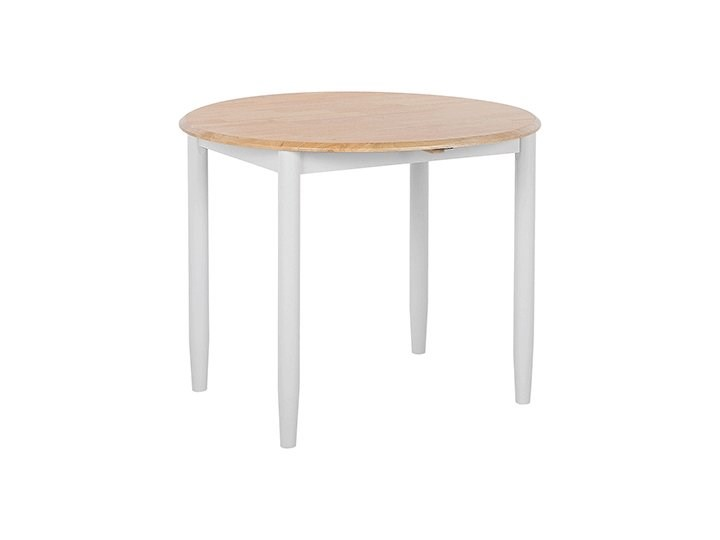 Stół do jadalni szary jasne drewno 60/92 x 92 cm rozkładany okrągły 4 miejsca skandynawski Szerokość 60 cm Styl Nowoczesny Rozkładanie Rozkładane