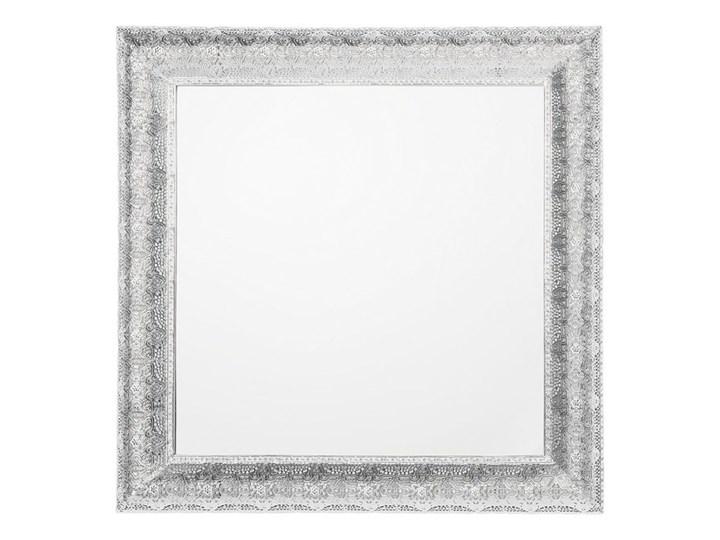Lustro ścienne wiszące srebrne 65 x 65 cm kwadratowe vintage retro sypialnia salon łazienka Styl Klasyczny