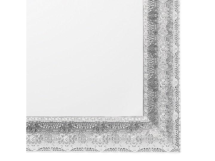 Lustro ścienne wiszące srebrne 65 x 65 cm kwadratowe vintage retro sypialnia salon łazienka Pomieszczenie Przedpokój