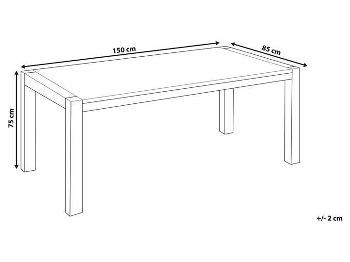 Stół do jadalni jasnobrązowy drewniany dębowy prostokątny 150 x 85 cm minimalistyczny Rozkładanie Długość 150 cm  Drewno Styl Nowoczesny