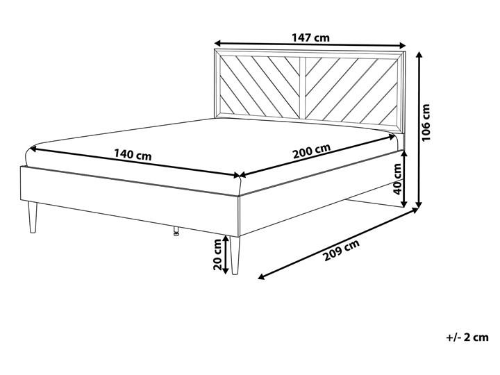 Łóżko ze stelażem ciemne drewno 140 x 200 cm wysokie wezgłowie rustykalny design ramy Kategoria Łóżka do sypialni Łóżko drewniane Kolor Brązowy