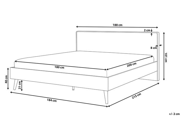 Łóżko białe jasne drewno 180 x 200 cm z ramą stelażem i zagłówkiem skandynawski design minimalistyczne Kategoria Łóżka do sypialni Łóżko drewniane Kolor Beżowy
