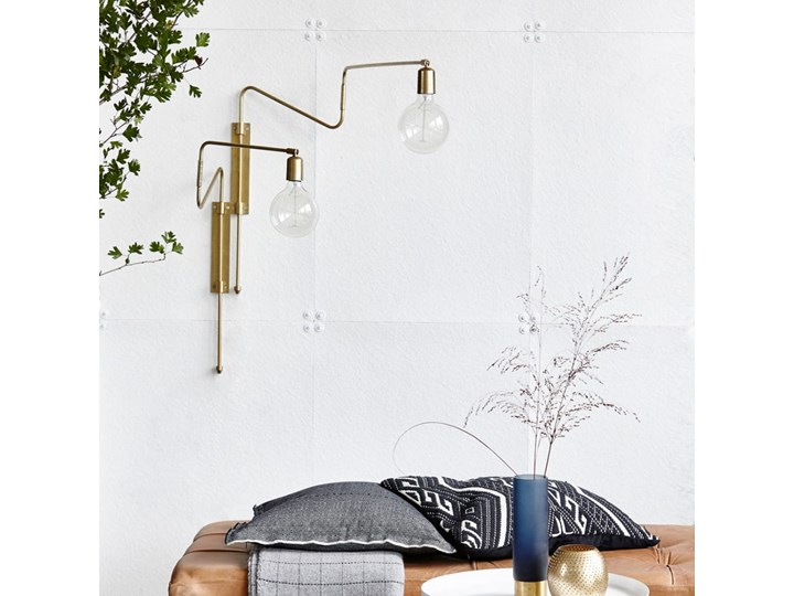 KINKIET LAMPA SCIENNA SWING LONG HOUSE DOCTOR Styl Skandynawski Metal Kinkiet dekoracyjny Kategoria Lampy ścienne