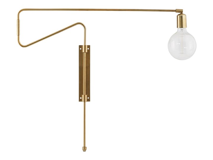 KINKIET LAMPA SCIENNA SWING LONG HOUSE DOCTOR Metal Kinkiet dekoracyjny Styl Skandynawski