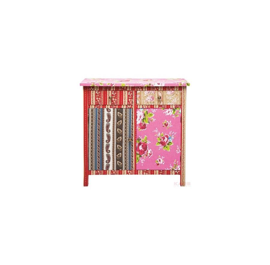 Kare design ibiza kolorowa komoda z dwiema szufladami i for Design patchwork stuhl ibiza