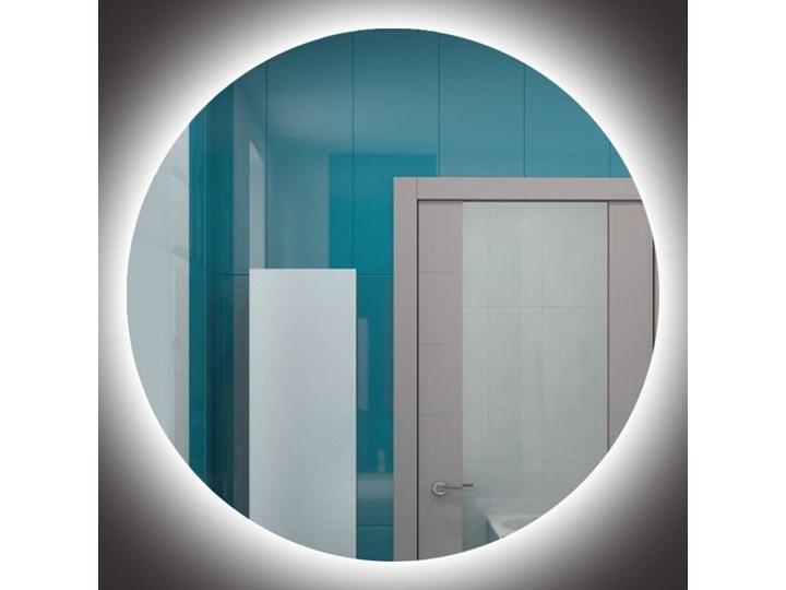 Lustro Shape 01 + Ambilight Kolor Srebrny Ścienne Lustro bez ramy Okrągłe Styl Nowoczesny