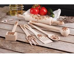 Zestaw drewnianych przyborów kuchennych LUDOWY