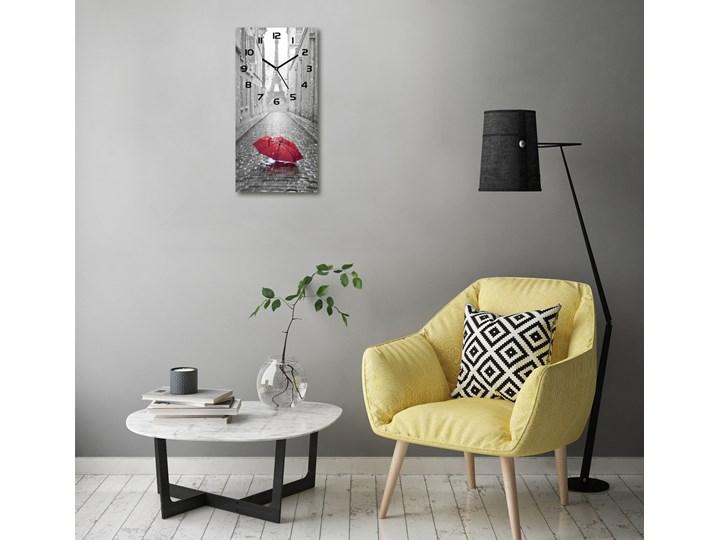 Zegar ścienny cichy Parasol Francja Zegar stołowy Prostokątny Budzik Szkło Kolor Szary