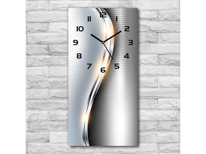 Zegar ścienny Metalowa abstrakcja Zegar stołowy Budzik Tworzywo sztuczne Prostokątny Kolor Szary Styl Nowoczesny