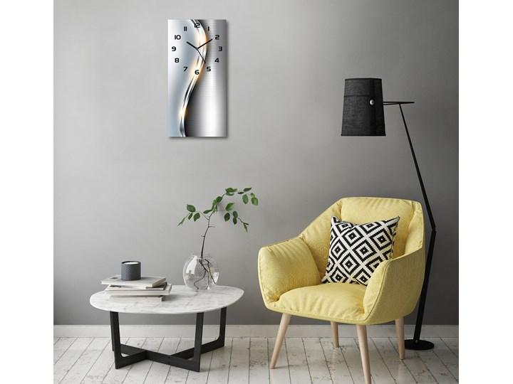 Zegar ścienny Metalowa abstrakcja Zegar stołowy Styl Klasyczny Budzik Tworzywo sztuczne Prostokątny Kolor Szary