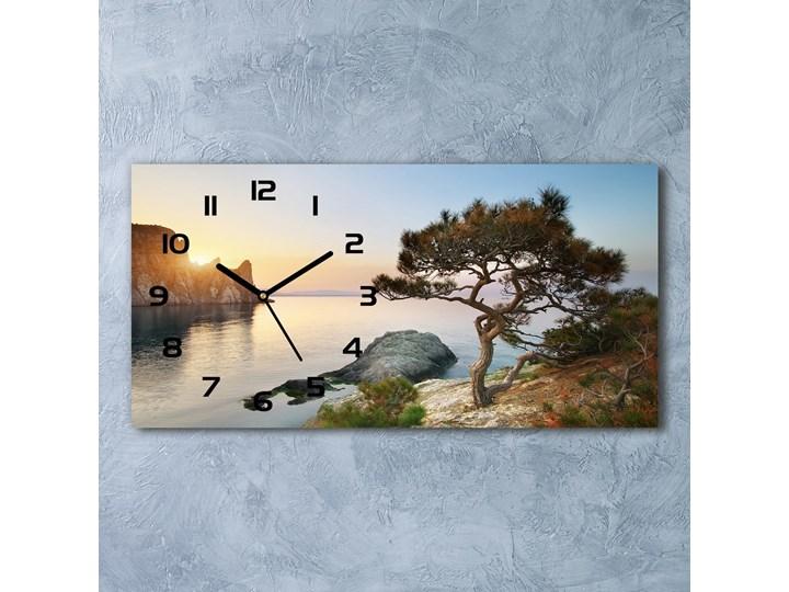 Zegar ścienny szklany Drzewo nad morzem Szkło Prostokątny Kategoria Zegary