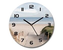 Zegar szklany okrągły Ścieżka na plażę