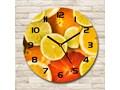 Zegar szklany okrągły Owoce cytrusowe Zegar ścienny Zegar kuchenny