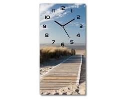 Zegar ścienny cichy Ścieżka na plażę