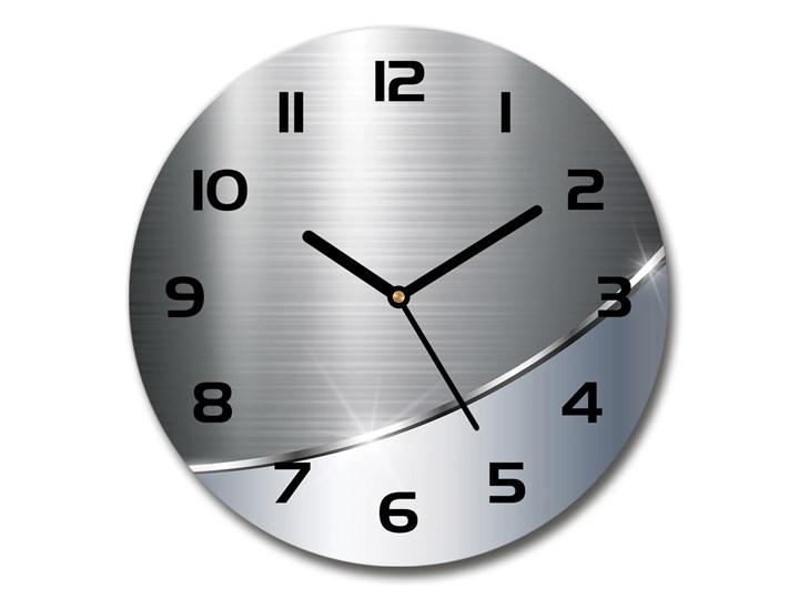 Zegar szklany okrągły Metalowa abstrakcja Zegar ścienny Szkło Tworzywo sztuczne Styl Nowoczesny