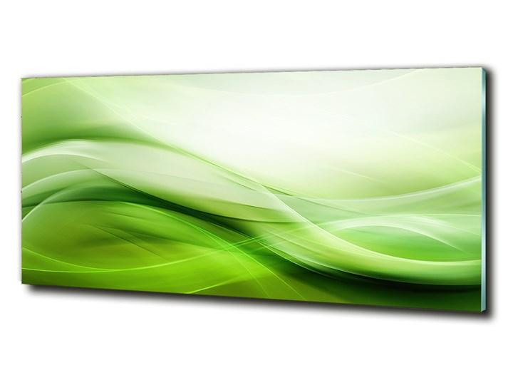 Foto obraz szklany Zielone fale tło