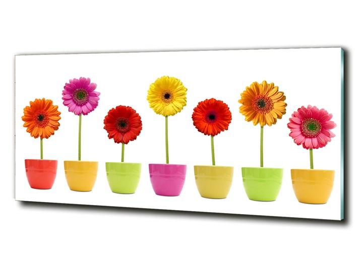 Foto obraz szklany Kolorowe gerbery